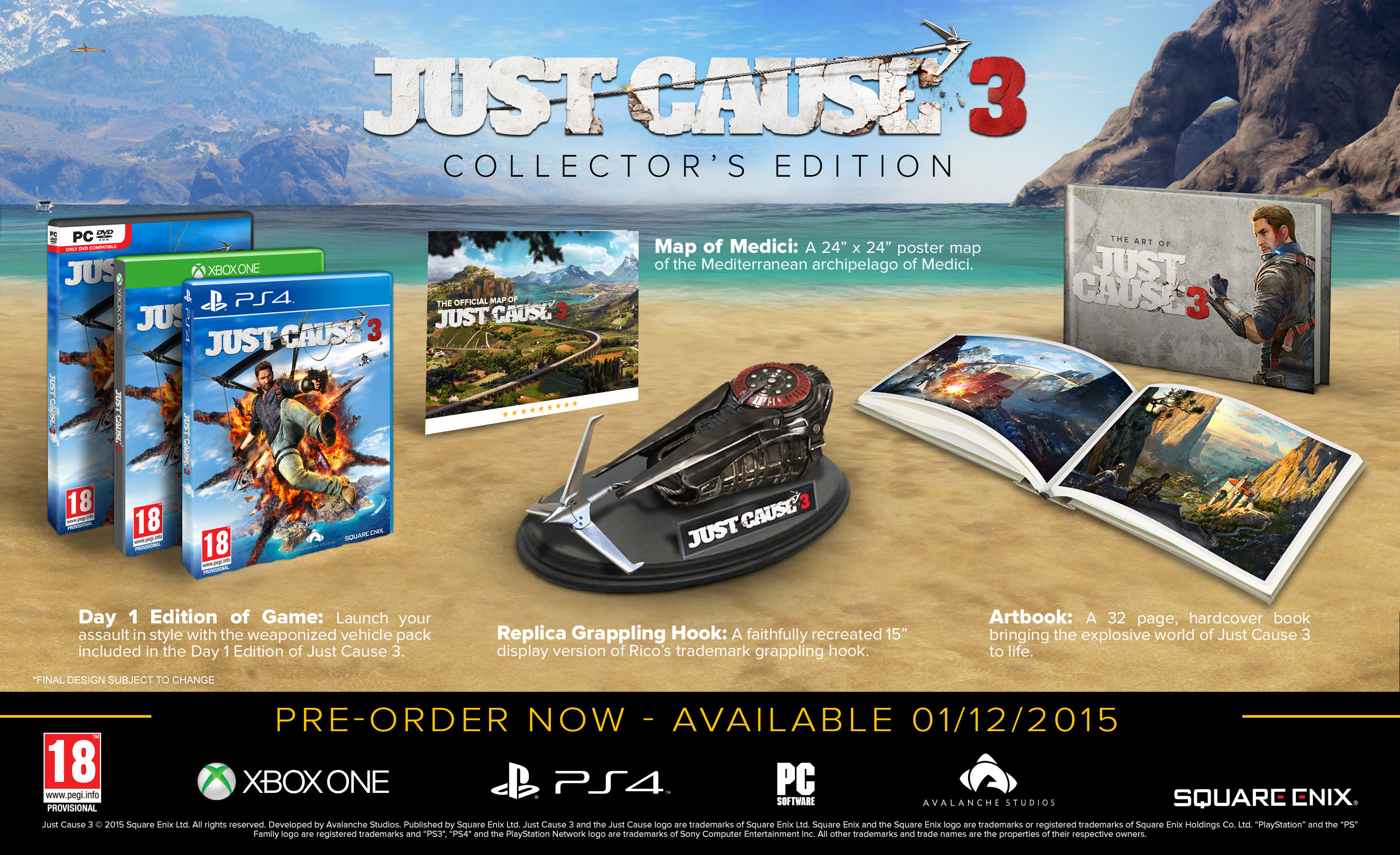 just cause 3 collector 39 s edition revealed thexboxhub. Black Bedroom Furniture Sets. Home Design Ideas